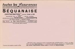 """Assurances  """"Sequanaise  """" - Format 14 X 22,3  Cm - Banco & Caja De Ahorros"""