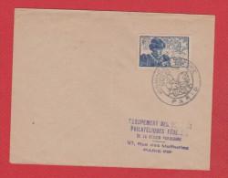 Env  -- Journée Du Timbre 1945  --  Pliée - 1921-1960: Modern Tijdperk