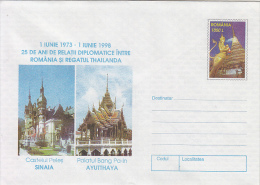 36527- ROMANIAN-THAILAND DIPLOMATIC RELATIONS, COVER STATIONERY, 1998, ROMANIA - Enteros Postales