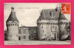 17 CHARENTE-MARITIME JONZAC, Le Château, Animée, 1912, (Dufeil-Dutour) - Jonzac