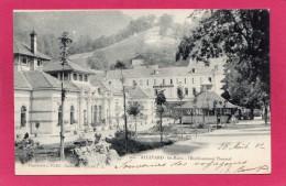 38 ISERE ALLEVARD, Les Bains, L'Etablissement Thermal, Animée, Hôtel, Précurseur, 1902, (L. Pons, Grenoble) - Allevard