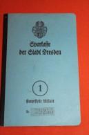 Altes Sparbuch , Dresden 1945 , Altstadt , Hermann Reupsch , Leipzig , Sparkasse , Bank , Post !!! - Banque & Assurance