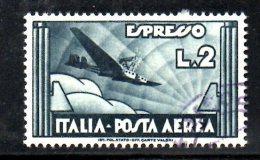 Y598 - REGNO 1934 , Espresso Aereo N. 73 Usato - Luftpost