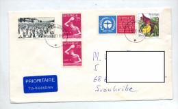 Lettre Cachet Helsingborg Sur Fleur Ski Tennis De Table - Lettres & Documents