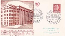 France Timbres Sur Lettre 1955 - Frankrijk