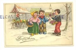 Bonne Année. Marché De Noël. Coloprint 53817. 1952 - Neujahr