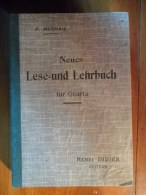 Neues Lese - Und Lehrbuch  (F. Meneau) éditions Henri Didier De 1941 - Livres Scolaires