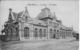 PERUWELZ  LA GARE ANIMEEE CPA  2138 - Gares - Sans Trains