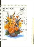 Monaco - Oblitéré Bouquet Glaieuls Et Dalhias 1.60 Année 1982 - Gebraucht