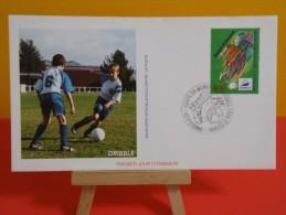 FDC- Coupe Du Monde De Football, France 98 - 42 St Étienne - 1.6.1996 - 1er Jour, Drible - FDC