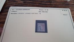 LOT 296187 TIMBRE DE COLONIE GENERALE OBLITERE N�48 REUNION  BLOC