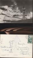 1756) VALLE D´AOSTA CERVINIA BREUIL CAMPANILE VIAGGIATA 1951 - Altre Città