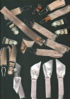 LOT DE JARRETELLES   (mode femme, couture, sous-v�tements, lingerie ancienne)