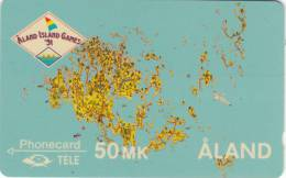 ALAND ISL.(GPT) - The Map Of Aland, CN : 4FINB(4mm), Tirage 3900, 06/91, Mint - Aland