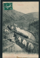 NAJAC - Le Pont De Chemin De Fer Et La Gare (passage Train) - Najac