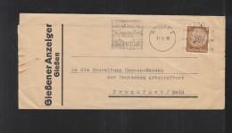 Dt. Reich Streifband 1938 Gießener Anzeiger - Briefe U. Dokumente