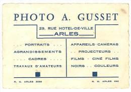 Carte Commerciale : Photo A. Gusset, Arles - Autres Collections