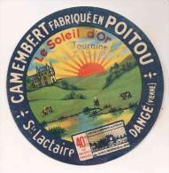 ETIQUETTE DE FROMAGE Camembert Poitou Dangé Vienne St Lactaire - Cheese