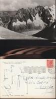 1769) VALLE D´AOSTA CHAMONIX AIG DU MIDI AIG DU PLAN REQUIN GREPON GHIACCIAIO VIAGGIATA 1955 - Altre Città