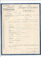 Facture , Courtage , Commission , Représentation , PROSPER DAUDIBON , LE MANS , 1935 - Non Classés