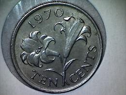 Bermudes 10 Cents 1970 - Bermuda