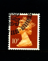 GREAT BRITAIN - 1990  MACHIN  10p.   PCP  FINE USED  SG X940 - 1952-.... (Elisabetta II)