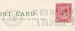 1932 OLDHAM GB GV Stamp COVER (card) SLOGAN Pmk TELEPHONE THE BEST INVESTMENT To County Justices Clerk Bury  Telecom - Telecom