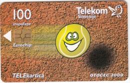 SLOVENIA SLOVENIJA PHONECARD 2000 OTOČEC WORLD CHAMPIONSHIP JOURNALISTS  TENIS TENNIS  TELEKOM SPORT FESTIVAL - Sport