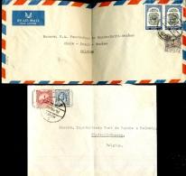 2 Jolies Lettres  Vers 1951 - Jordanie