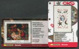 ITALIA TESSERA FILATELICA 2009 - NATALE RELIGIOSO LAICO - 344 - 6. 1946-.. Republik