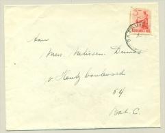 Nederlands Indië  - 3 Cent Inheemse Dansers Als Enkelfrankering Op Lokale Brief Vereniging Van Huisvrouwen - Netherlands Indies
