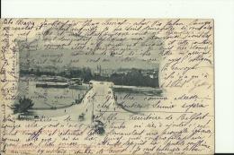 ZUR45   --  ZURICH  --  QUAIBRUCKE UND ALPENQUAI  --  1906  --   + 10 FILLER PORTO MARKE HUNGARY - ZH Zurich