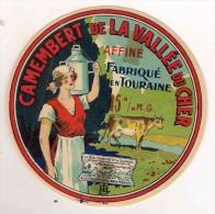 ETIQUETTE DE FROMAGE Camembert LUNE DE MIEL Toujours Meilleur Fabriqué En Touraine - Cheese