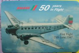 1997 - Bulgarian Airlines - Balkan / Junkers Ju 52  - 50 Years In Flight - Calendars