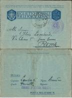 BIGLIETTO FRANCHIGIA WWII POSTA MILITARE 1942 SETTORE COSTIERO GAETA X ROMA - Military Mail (PM)