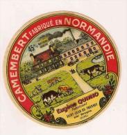 ETIQUETTE DE FROMAGE Camembert Fabriqué En Normandie Eugene Quinio Saint Jean Du Thenney Par Broglie Eure - Fromage