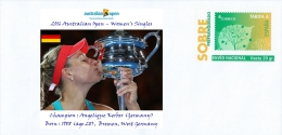 SPAIN, 2016 Australian Open – Women's Singles  Champion : Angelique Kerber (GERMANY), Born : 1988 (age 28),  Bremen - Tennis
