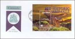 Grenada 2003 Souvenir Sheet Dinosaurs Prehistoric #3388 Archaeopteryx First Day Cover - Grenada (1974-...)