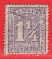 MiNr.12 II.b O Altdeutschland Hamburg - Hamburg