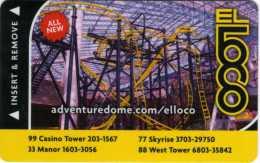 Carte Clé Hôtel Avec Casino : El Loco Adventure Dome : Circus Circus Las Vegas - Cartes D'hotel