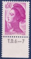 Liberté De Gandon : 0,50 Violet (n°2184) Avec Numéro De Presse TD6-7 - 1982-90 Liberté De Gandon