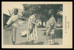 GUINE-BISSAU  - COSTUMES -Jeunes Filles ( Ed. D. A. Longuet Nº 51) Carte Postal - Guinea-Bissau