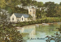 Postcard - St. Just In Roseland St. Just Church By Kevin Platt, Cornwall. KP - Other