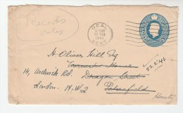 1941 DEAL GB Postal STATIONERY COVER   To PETERSFIELD Then REDIRECTED London Stamps - Stamped Stationery, Airletters & Aerogrammes