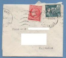 Cad MEC Caen Gare 1946 / Céres Et Gandon - Postmark Collection (Covers)
