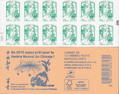 """CARNET 858-C 7 Marianne De Ciappa-Kawena """"NOUVEL AN CHINOIS 2015"""" Peu D´exemplaires. A Saisir Rapidement. - Usage Courant"""