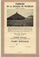 """""""Panorama De La Bataille De WATERLOO"""" - Part Sociale (1983) - Aandelen"""