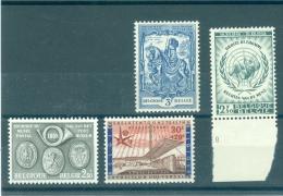 België  N°1047V  1046V4  1121V  1089V  Xx Postfris - Abarten Und Kuriositäten