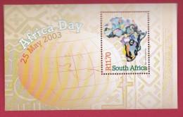 SOUTH AFRICA, 2003, MNH Block (miniature Sheet) , Africa Day,  Sa 1549, #9008 - South Africa (1961-...)