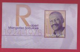 SOUTH AFRICA, 2003, MNH Block (miniature Sheet) , Robert Sobukwe,  Sa 1566, #9011 - South Africa (1961-...)